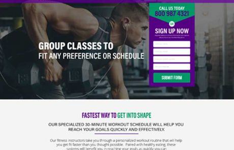 Fitness-landing-page